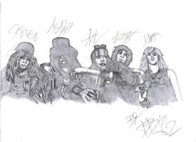 Guns N' Roses - Drawing by Dario4Slash