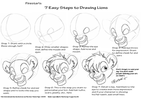'Draw my way' lion tutorial by KaiserTiger