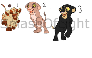 Lion Cubs Set 1 Draw To Adopt -- (FREE) OPEN!! by SplashOfLight