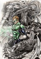 GREEN LANTERN vs ALIENS by Vinz-el-Tabanas