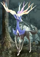 Xerneas by Sanatio