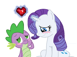 spike and rarity by schoolfish