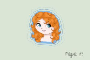 Young Merida ~ by millymilk