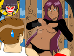 Yoruichi about to rape Matthew by gamemaster8910