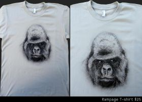 Rampage T-shirt by dehydrated1