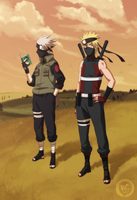 Asidou and Kakashi - Recolour by Crussong
