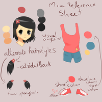 Mia reference sheet by Famews