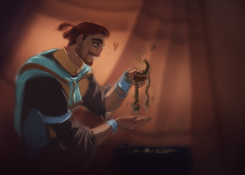 Cooking dinner by Roiuky