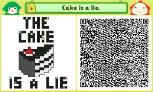 The Cake is a Lie. QR by JAKtheTerrible