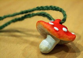 Little mushroom-necklace by BeastVoodoo