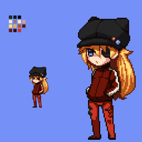 Asuka 3.0 Pixelart by watercat2