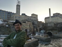 Me at the Mill City Ruins in Minneapolis, mn. by simpspin
