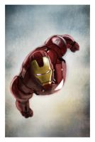 COLOR TEST IRON MAN by galindoart