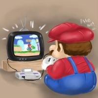 Mario Playing SNES by winuy