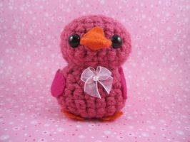 Amigurumi Pink Easter Duckie by AmiTownCreatures
