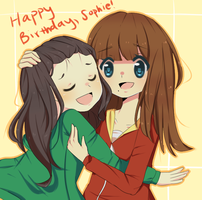 Happy (SUUPERRRLATE) Birthday, Sophie!!! by amietto
