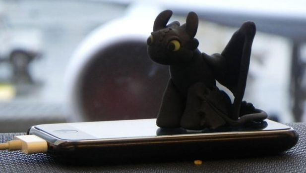 Clay Toothless by Kayru-Kitsune