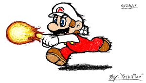 Fire Mario Sketch by YoshiMan1118
