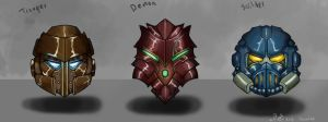 Helmet Concepts by ShinoShoe26