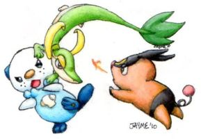 5th Gen Starter Fight by Fai-Ness