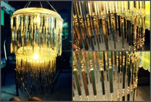 Recycled Chandelier by Buujang