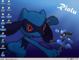 Riolu Desktop by CutePokemonTrianer