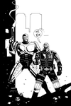 DREDD AND ROBOCOP INKS by future-parker