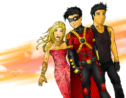 DC Trinity -Teen Titans ver.- by wkong