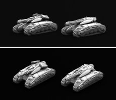 Marhaf Legion Medium Tank (both variants) by Hongablaster