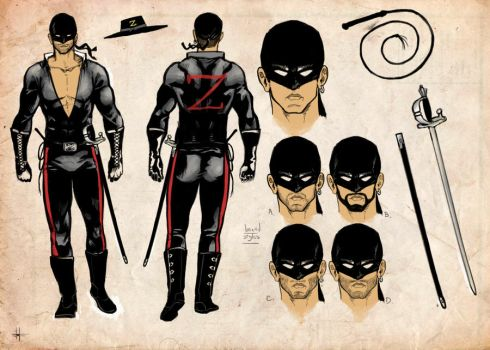 Diego as New Zorro - Character Design by LulisLuc