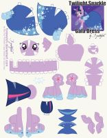 Twilight Sparkle Dress Print by FyreWytch