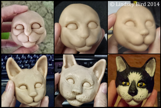 Progress for Otto the Cat Magnet by SuperLinZ