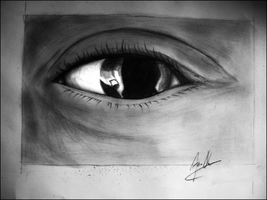 drawing of my own eye by JOVictory
