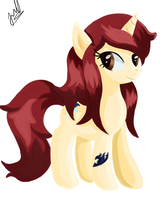 Erza Pony. by Wolfais