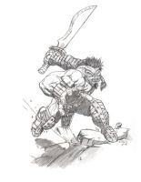 Orc barbarian by Chasse-Lune