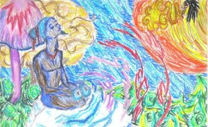 Spirituel hippie meditation by Jahwara
