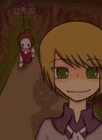 Pewdiepie and Cry WITCH HOUSE by volpe-nera