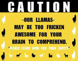 CAUTION LLAMAS by HotChiliPenguin