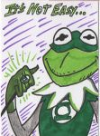 Green Lantern Kermit the Frog by PlummyPress