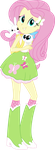 Equestria Girls Fluttershy Vector by icantunloveyou