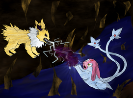 battle for mesprit by lolcatsarelol