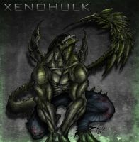 Xenomorph plus Hulk equals Xenohulk by ArtByElde