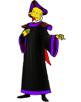 Monty Burns As Judge Claude Frollo by darthraner83