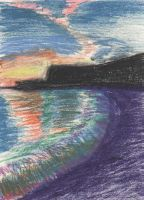 Sunset made with oil pastels by philippeL