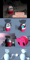 Moon Stroller Toy 3D Robot by sicklilmonky