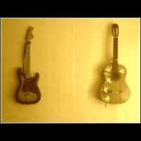 Guitar Pair by Scorpion31