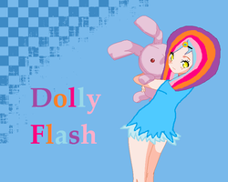 Anime: Dolly Flash and bunny by cottoncloudyfilly
