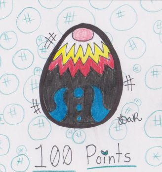 100 Point Dragon Egg Adoptable! OPEN! ART INCLUDED by GingerBaconCookies