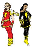 Mary Marvel and Isis by CrimeRoyale