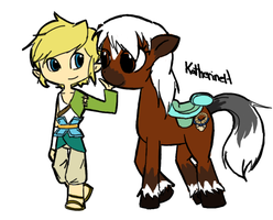 Link and Epona by Katfuzzmunchkin